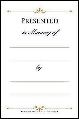 Picture of Presented in Memory of Bookplates (Pkg of 48)