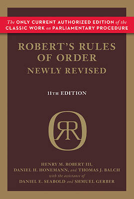 Picture of Robert's Rules of Order Newly Revised, 11th Edition