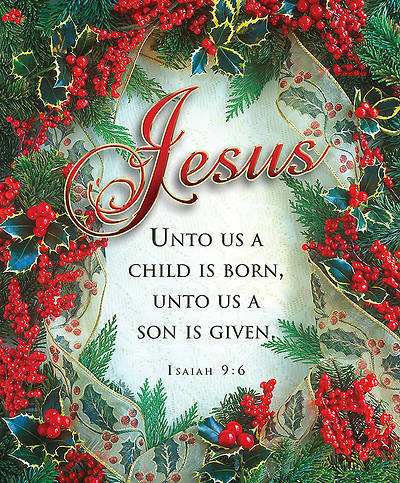 Christmas Jesus Bulletin Isaiah 9:6 KJV Large (Package of 100)