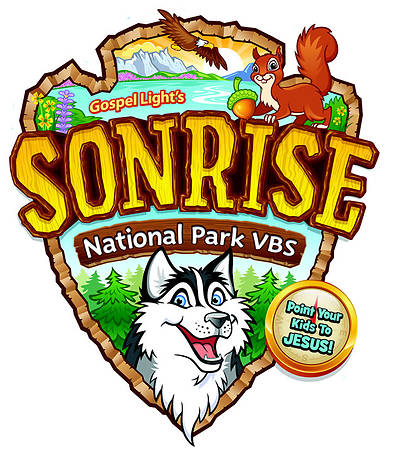 Gospel Light Vacation Bible School 2012 SonRise National Park T-Shirt Iron On (pkg of 10)