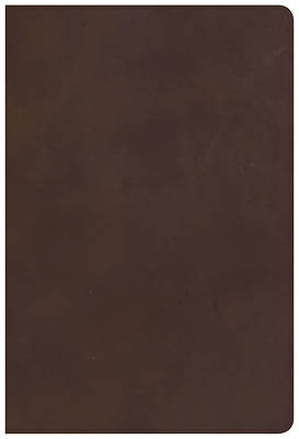 Picture of KJV Giant Print Reference Bible, Brown Genuine Leather