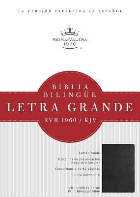 Picture of Rvr 1960/KJV Biblia Bilingue Letra Grande, Negro Imitacion Piel Con Indice