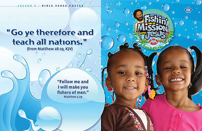 UMI Vacation Bible School 2012 Fishin On A  Mission PreSchool Bible Verse Posters (package of 10)