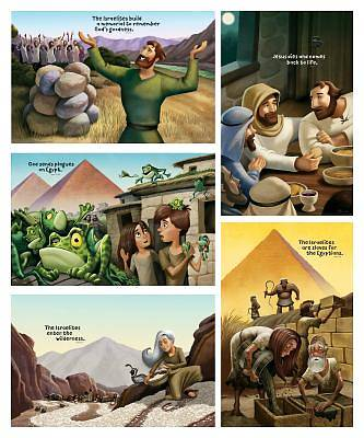 Vacation Bible School (VBS19) Roar Bible Story Posters (set of 5)
