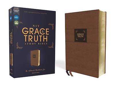 Picture of Niv, the Grace and Truth Study Bible, Leathersoft, Brown, Red Letter, Comfort Print