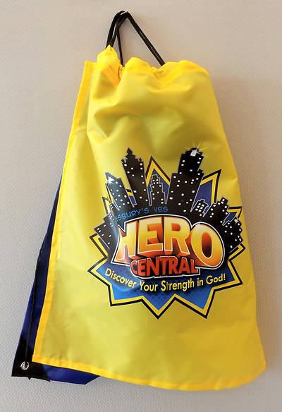 Vacation Bible School VBS Hero Central Drawstring Backpack with Cape