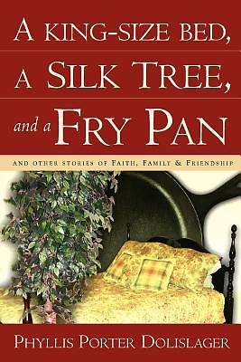 Picture of A King-Size Bed, a Silk Tree, and a Fry Pan