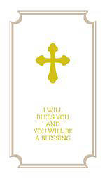 Picture of I Will Bless You and You Will Be A Blessing - Commemorative Wedding Booklet - Gift Edition