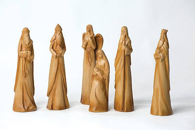 Picture of 6 Piece Woodlook Nativity
