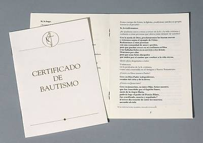 United Methodist Covenant II Child Baptism Certificate -Spanish (Package of 3)