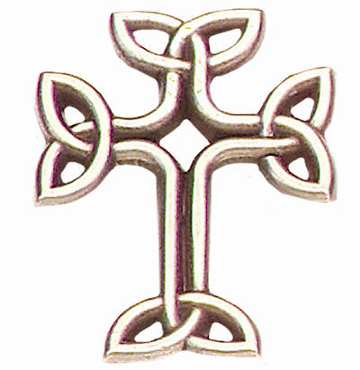 Knot Cross Lapel Pin