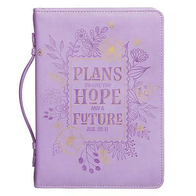 Picture of Bible Cover Large Lux-Leather Pastel Floral