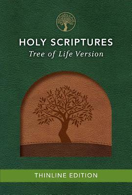 Picture of Tlv Thinline Bible, Holy Scriptures, Walnut/Brown, Tree Design Duravella