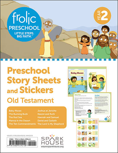 Picture of Frolic Preschool  Old Testament  Year 2  Ages 3-5  Story Sheets and Stickers