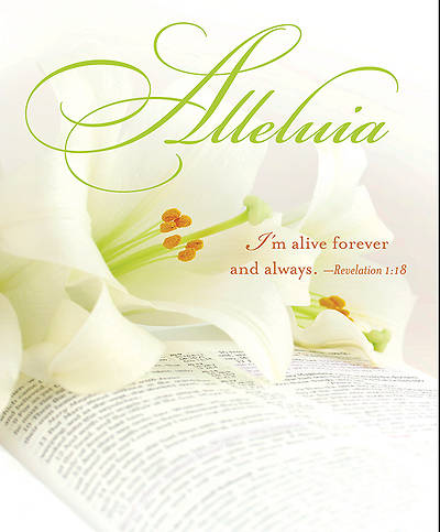 Alleluia Easter Lilies Bulletin 2014, Large (Package of 50)