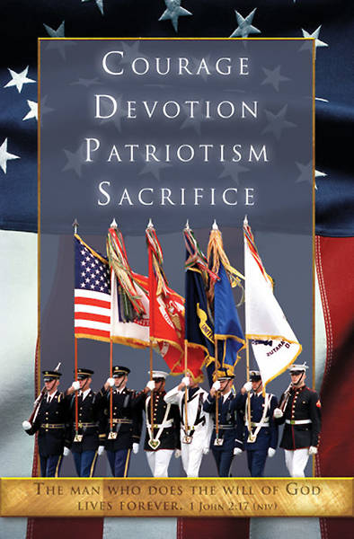 Funeral/Military-Patriotic Bulletin, Regular (Package of 100)