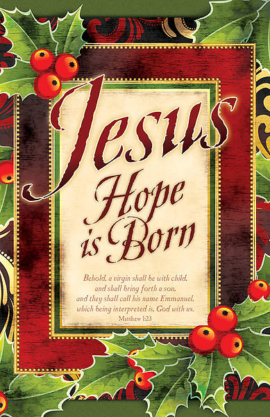 Jesus Hope is Born Christmas Bulletin Regular (Package of 100)