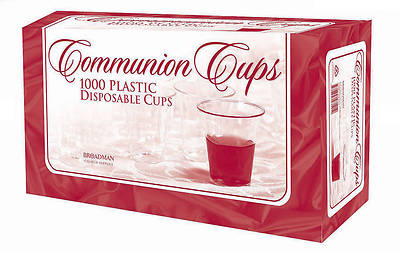 Disposable Clear Plastic Communion Cups (Box of 1000)