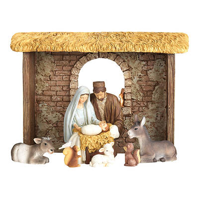 Picture of Nativity with Movable Baby (8 Piece)