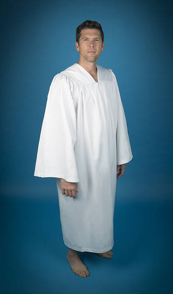 Pleated Baptismal Gown for Men