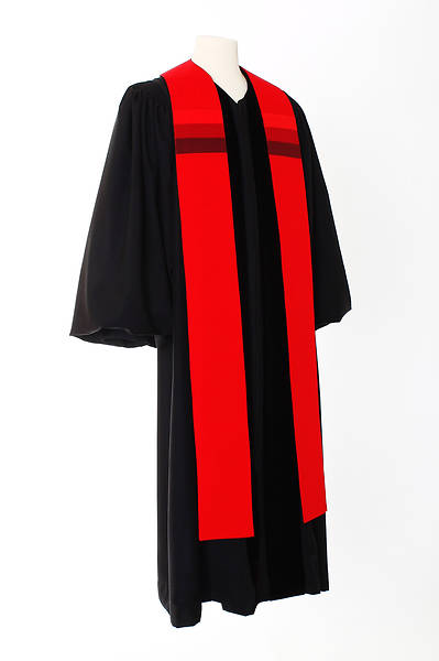 Picture of Triune Stripe Stole - Red