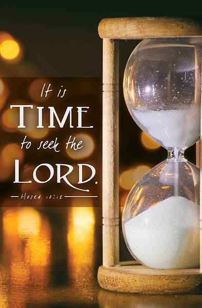 Picture of It Is Time to Seek the Lord New Year's Regular Size Bulletin