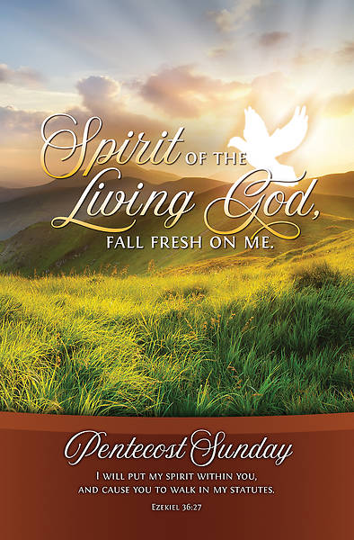 Picture of Fall Fresh On Me Pentescost Regular Size Bulletin