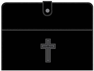 Deluxe Tablet Case/Stand- Debossed Cross