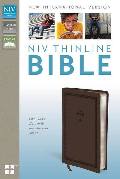 NIV Thinline Bible Italian Duo-Tone Chocolate