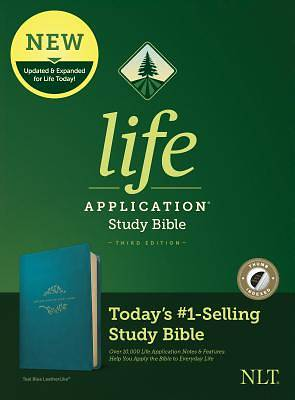 Picture of NLT Life Application Study Bible, Third Edition (Leatherlike, Teal Blue, Indexed)