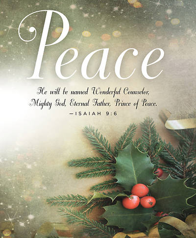 Peace Image Advent Bulletin, Large (Pkg of 50)