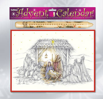 Nativity Advent Calendar with Advent Candle
