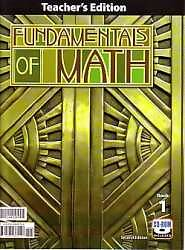 Fundamentals of Math Teachers Edition with CD 2nd Edition