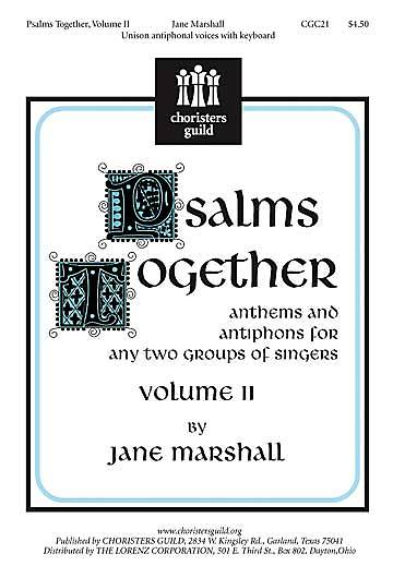 Psalms Together Volume 2 Choral Book