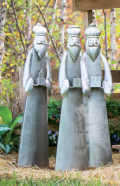 Picture of Handcrafted Artisan Metal Nativity (Three Wisemen)