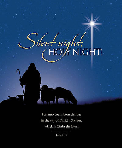 Silent Night Christmas Bulletin, Large (Package of 100)