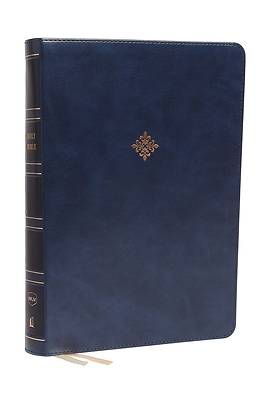 Picture of Nkjv, Reference Bible, Super Giant Print, Leathersoft, Blue, Red Letter Edition, Comfort Print