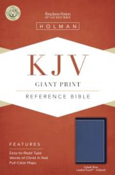 KJV Giant Print Reference Bible, Cobalt Blue Leathertouch, Indexed
