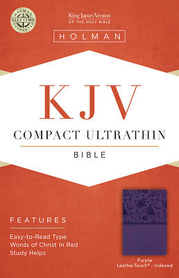 Picture of KJV Compact Ultrathin Reference Bible, Purple Leathertouch, Indexed
