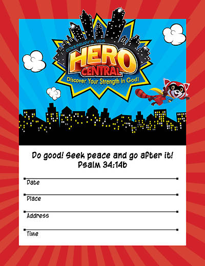 Picture of Vacation Bible School VBS Hero Central Small Promotional Poster
