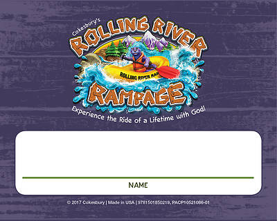 Vacation Bible School (VBS) 2018 Rolling River Rampage Nametag Cards (Pkg of 24)