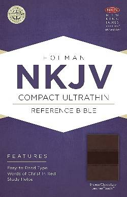 NKJV Compact Ultrathin Bible, Brown/Chocolate Leathertouch