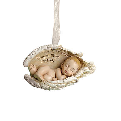 """Picture of Baby's First Christmas in Wings Ornament 3.5"""""""
