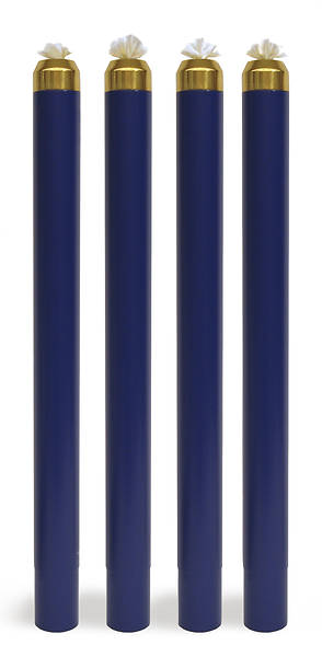 Liquid Wax Disposable Canister Advent Candle Set - 4 Blue