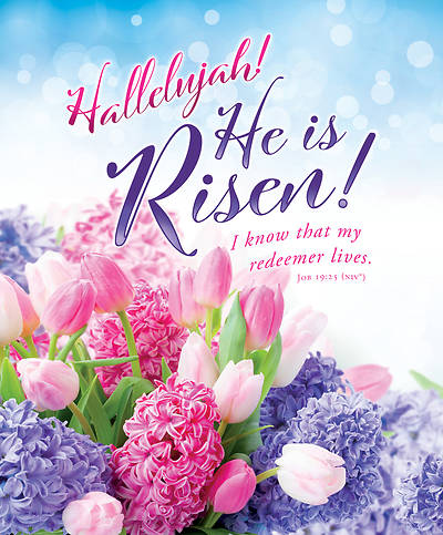 Picture of Hallelujah He is Risen Easter Legal Size Bulletin (Pkg of 100)