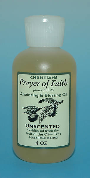 Unscented Anointing Oil 4 Oz Bottle