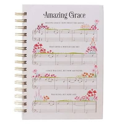 Picture of Large Wire Journal Amazing Grace Music