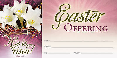 Picture of He is Risen Easter Offering Envelope