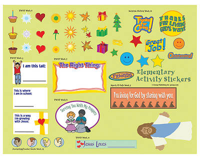 FaithWeaver Friends Elementary Activity Stickers (pkg 5) Spring 2018