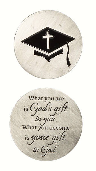 Picture of Graduation Pocket Stone Coin (Package of 24) Coin